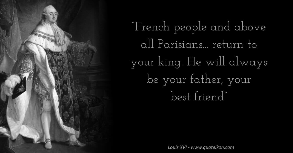 Louis XVI image quote