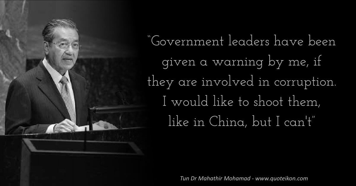 Mahathir Mohamad image quote