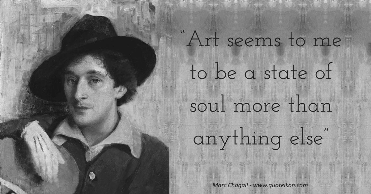 Marc Chagall image quote