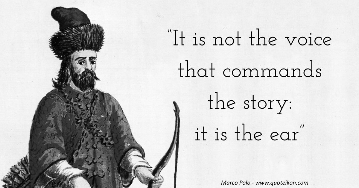 Marco Polo image quote