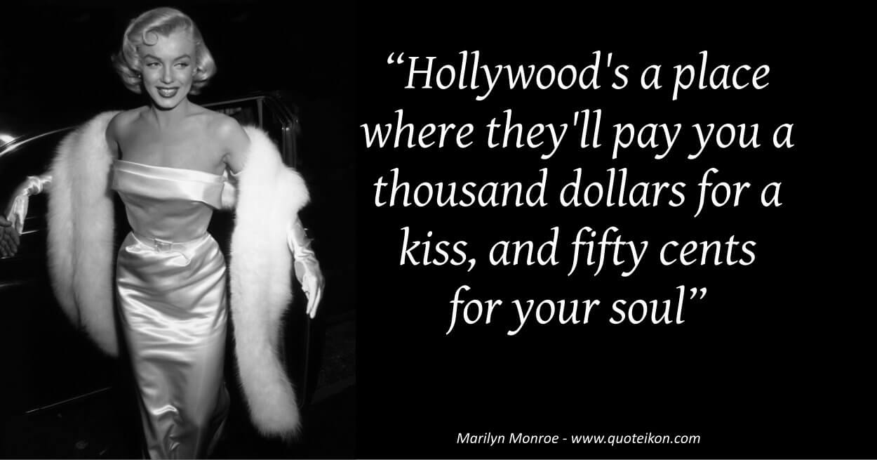Marilyn Monroe image quote