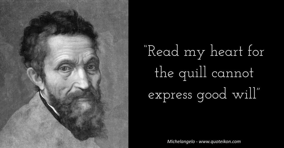 Michelangelo image quote