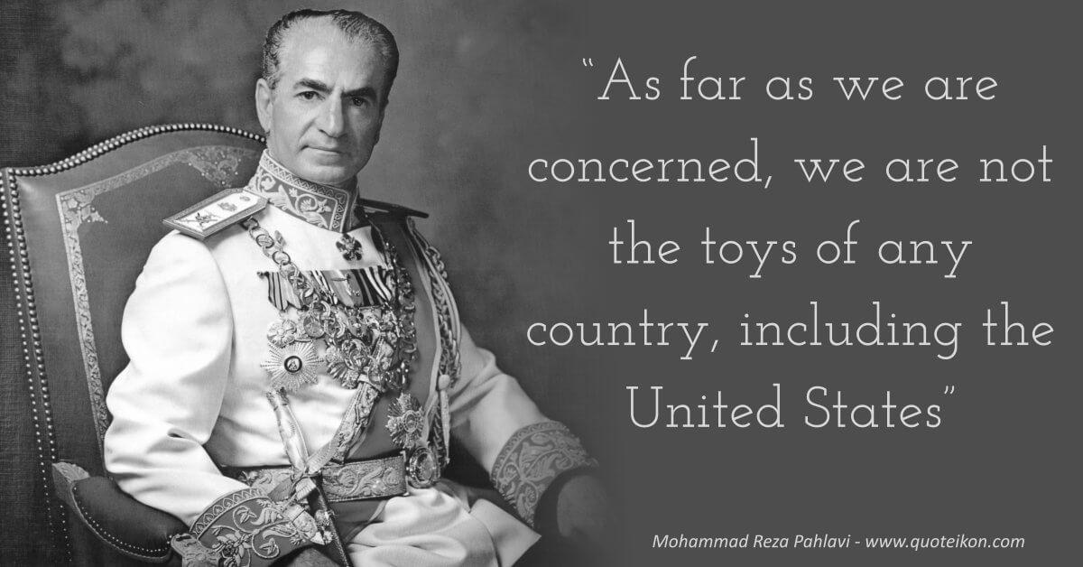 Mohammad Reza Pahlavi image quote