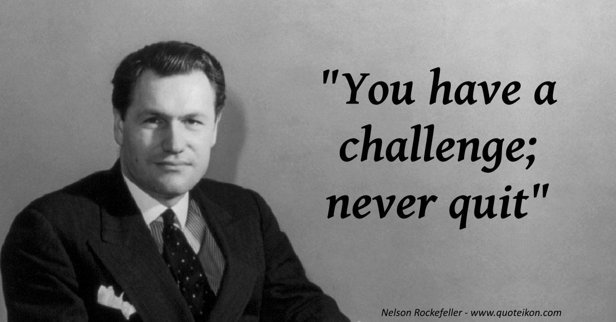 Nelson Rockefeller quote