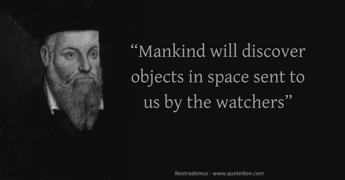 Nostradamus quote