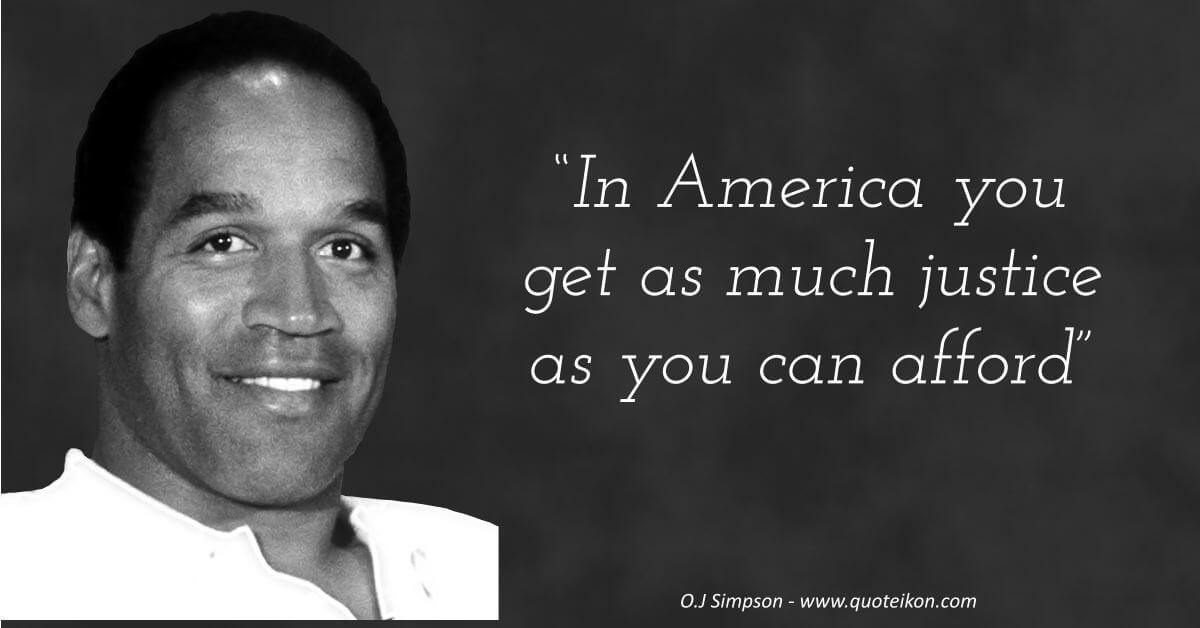 O.J Simpson image quote
