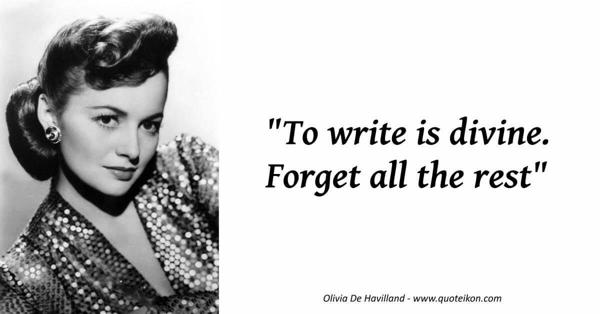 Olivia De Havilland image quote