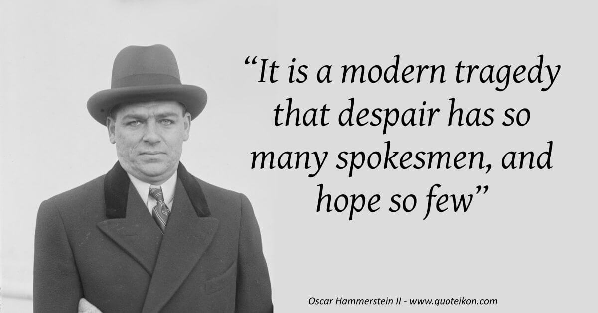 Oscar Hammerstein II image quote