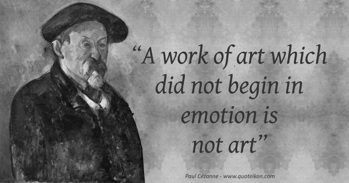 Paul Cézanne quote