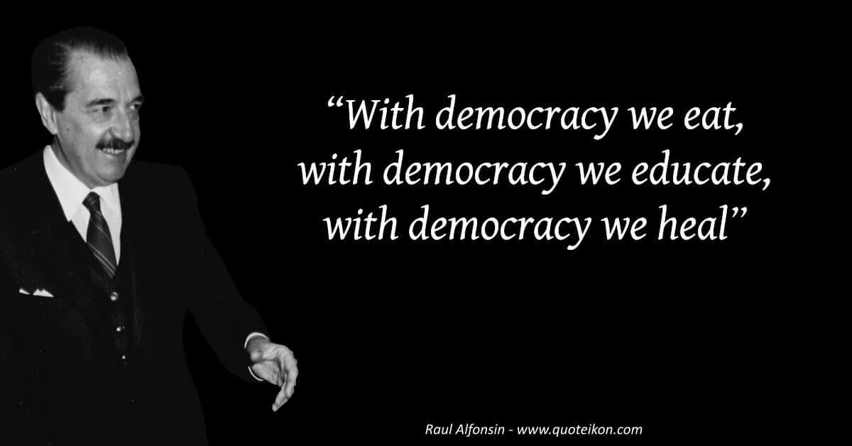 Raúl Alfonsín image quote