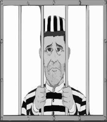 Robert Durst depicted in prison
