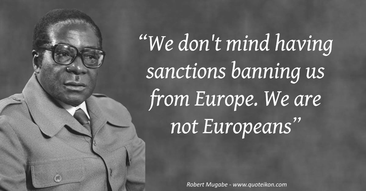 Robert Mugabe image quote