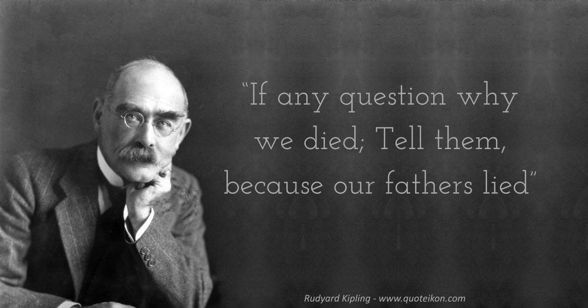 Rudyard Kipling image quote