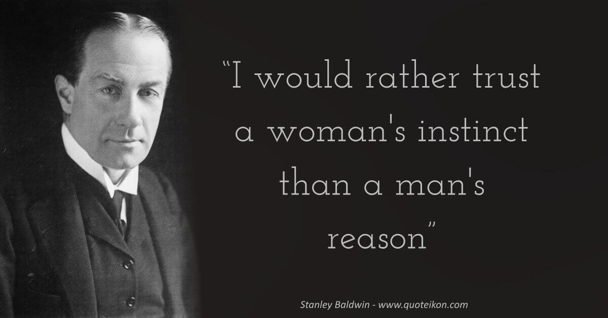 Stanley Baldwin  image quote