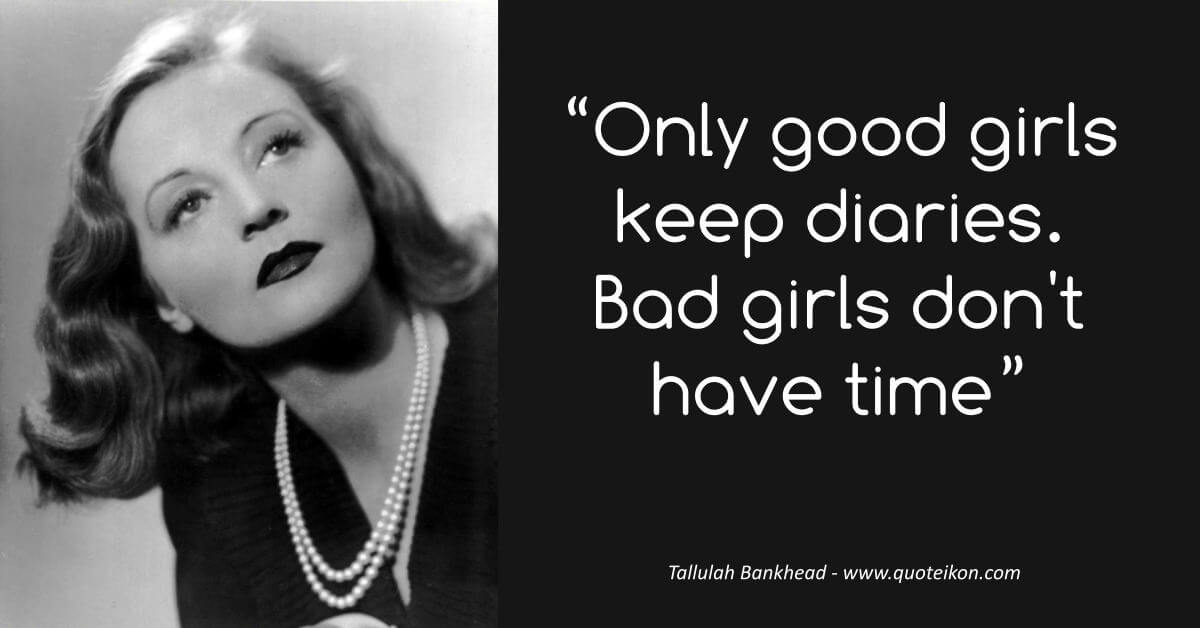 Tallulah Bankhead image quote