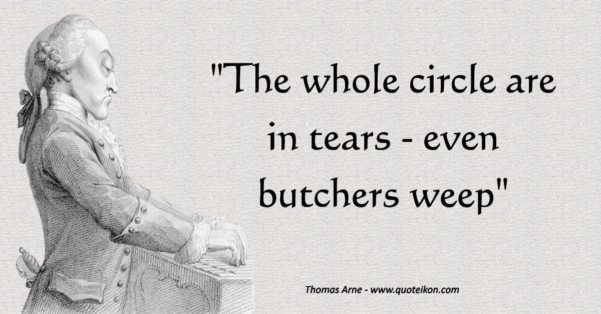 Thomas Arne image quote