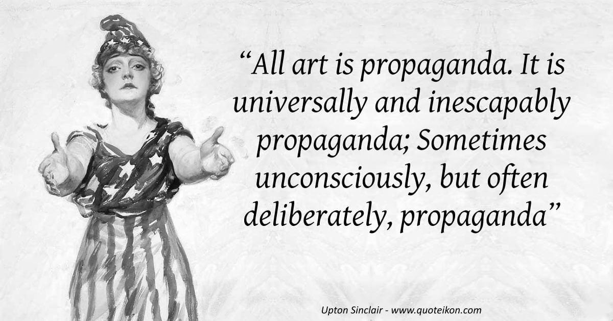 Upton Sinclair  image quote