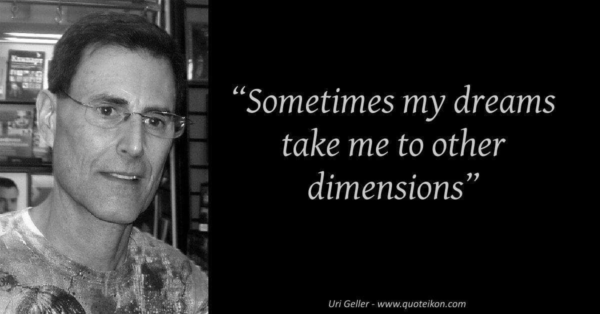 Uri Geller  image quote