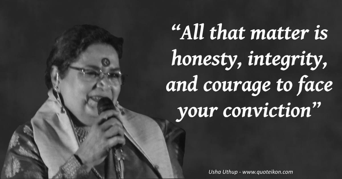 Usha Uthup  image quote