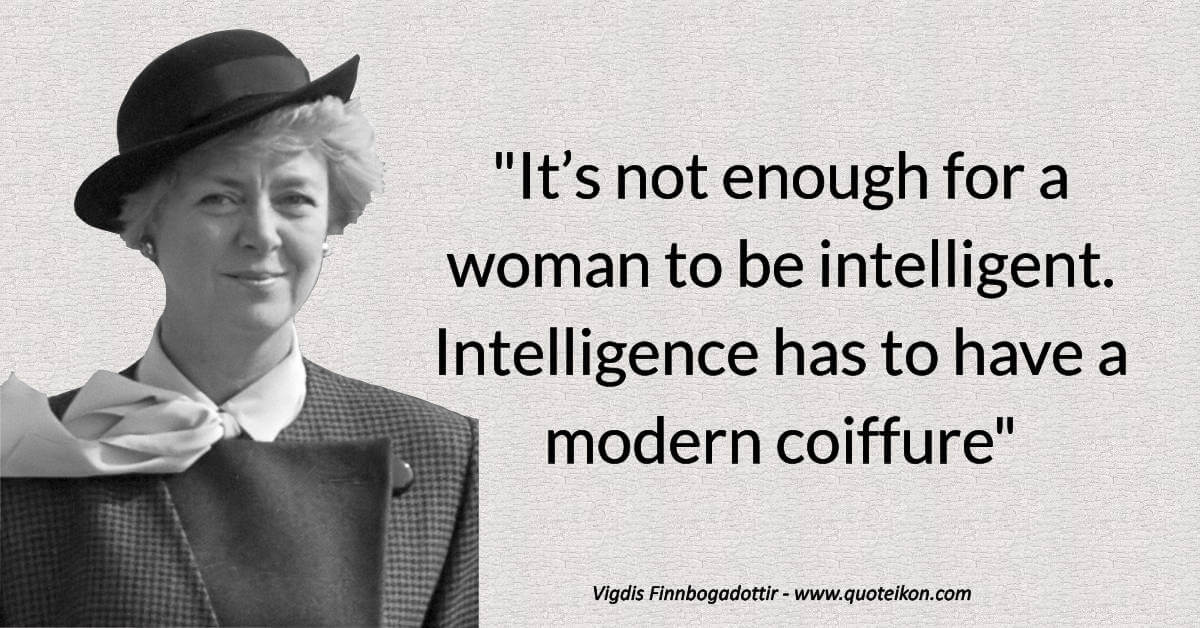 Vigdís Finnbogadóttir image quote