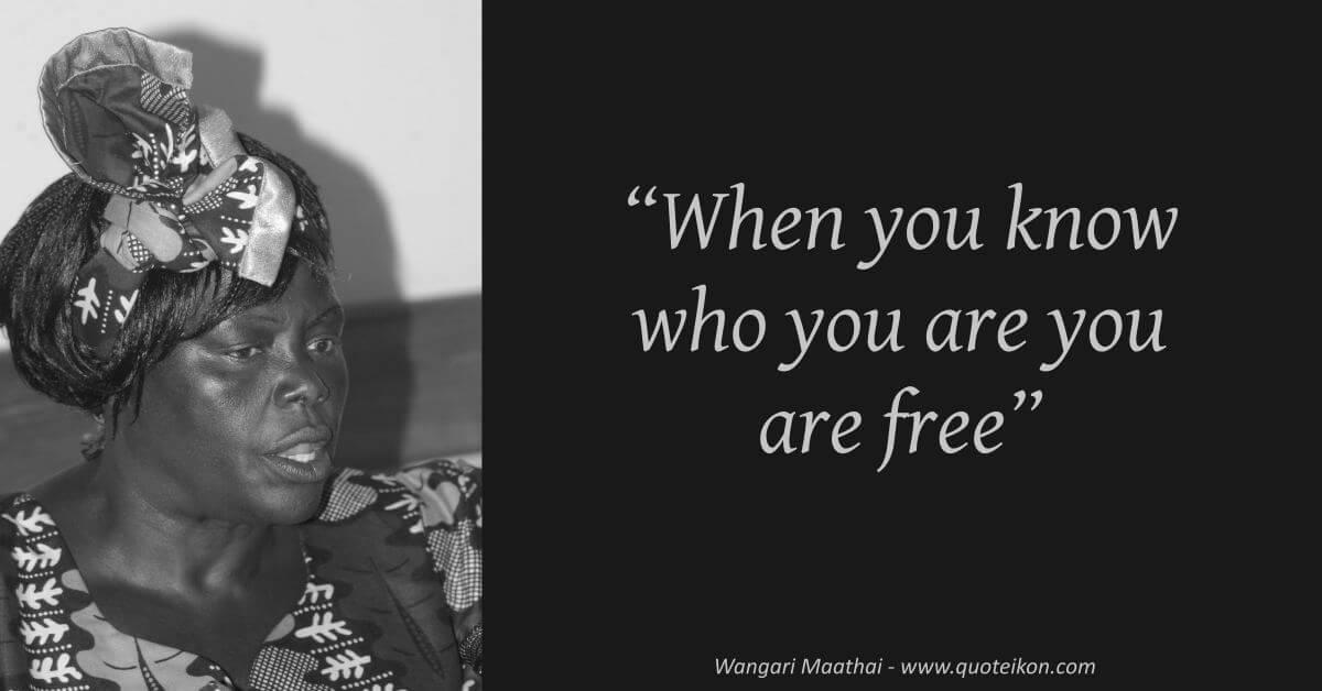 Wangari Maathai image quote