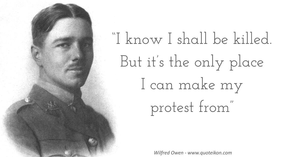 Wilfred Owen Quote