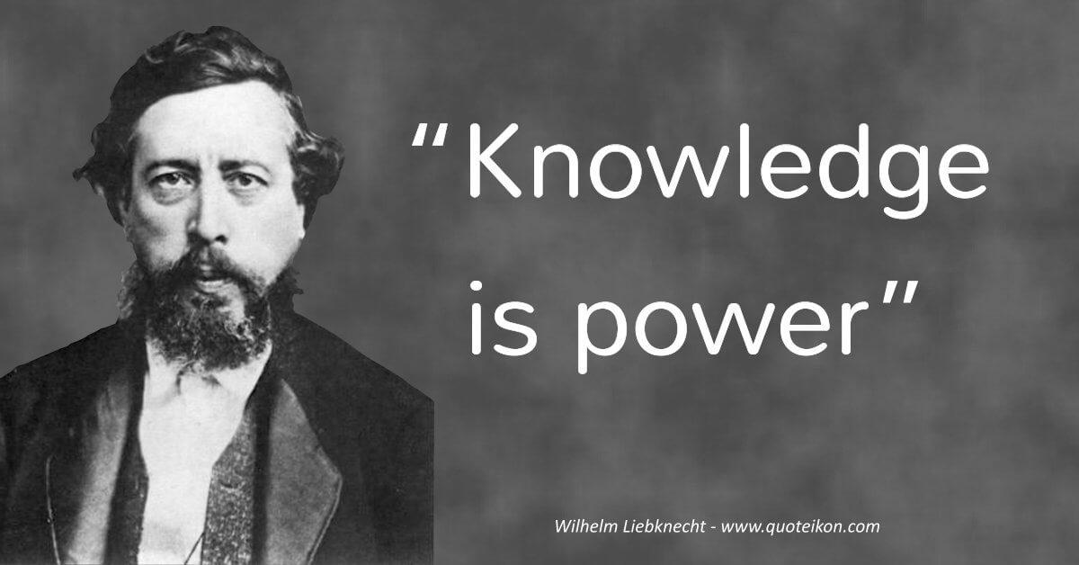Wilhelm Liebknecht image quote