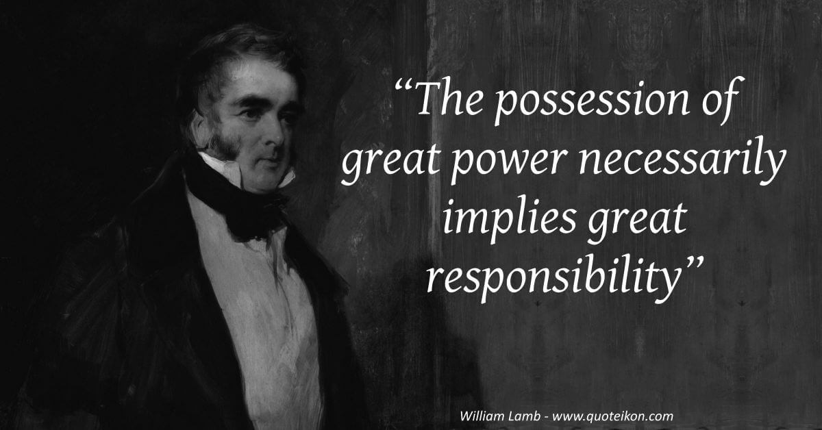 William Lamb image quote