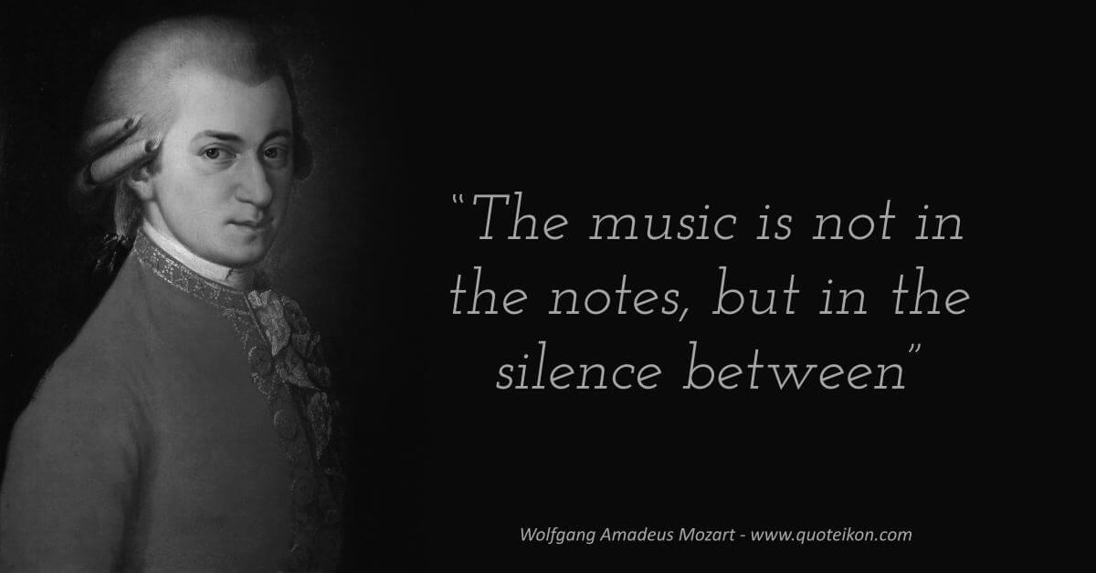 Wolfgang Amadeus Mozart image quote