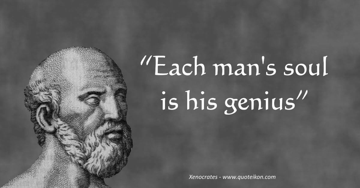 Xenocrates image quote