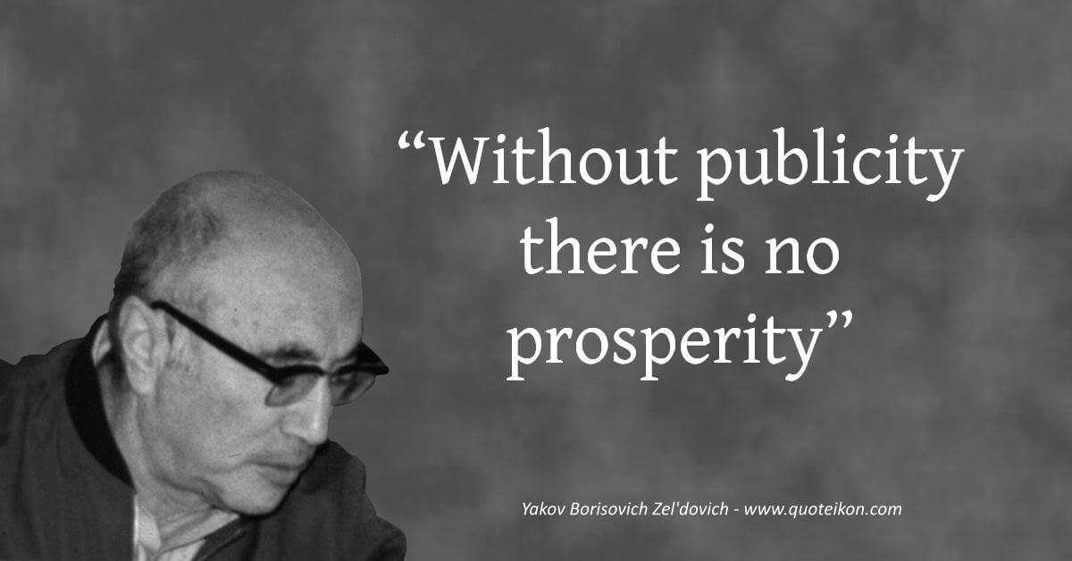 Yakov Borisovich Zel'dovich quote