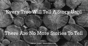 Every Tree Will Tell A Story Until There Are No More Stories To Tell - Michael Joseph